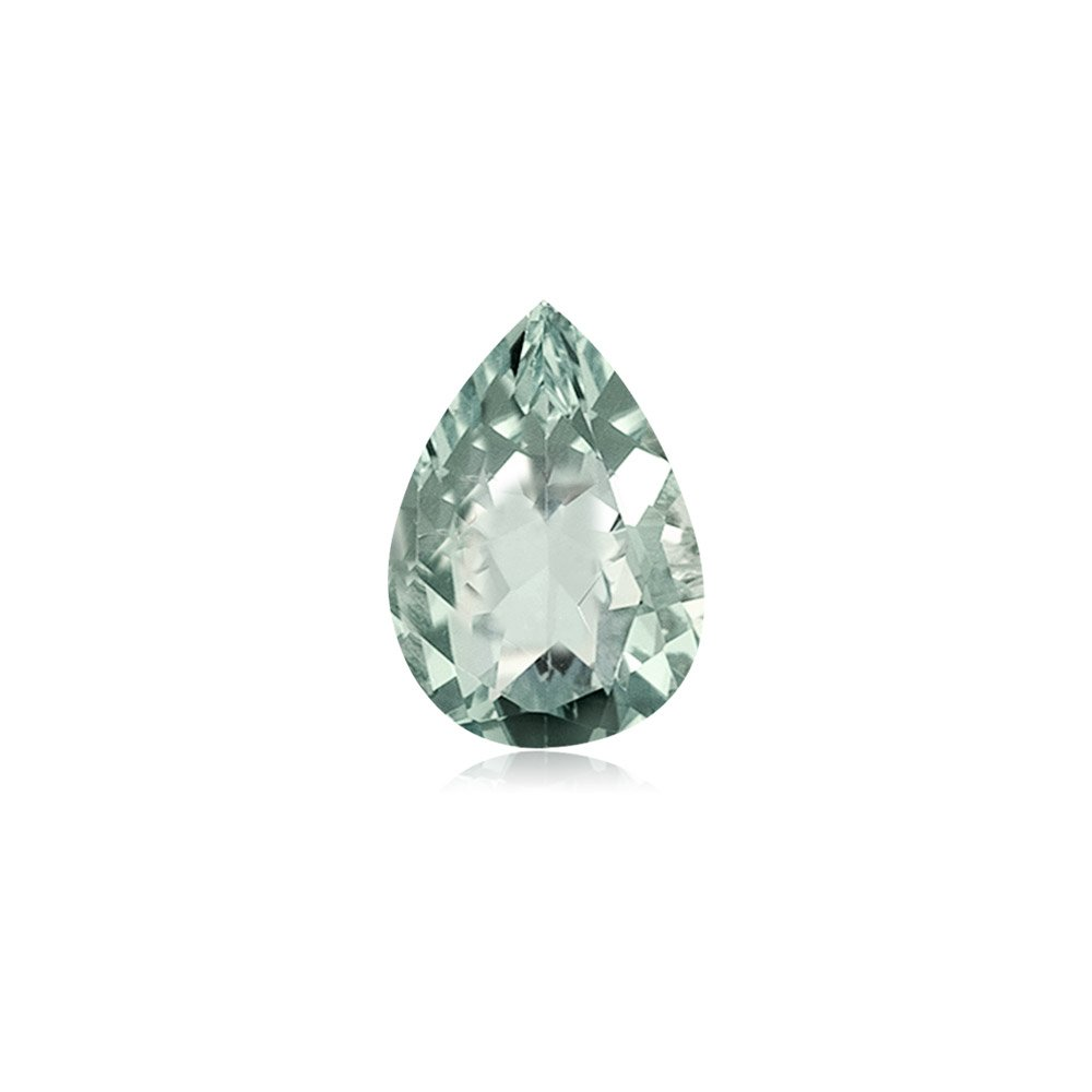 Mysticdrop 4.00-4.25 Cts of AA 14x9 mm Pear Green Amethyst (1 pc) Loose Gemstone