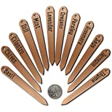 Red Tail Crafters Tapered 4.5in Metalgraph Herb Garden Stake Plant Markers Copper