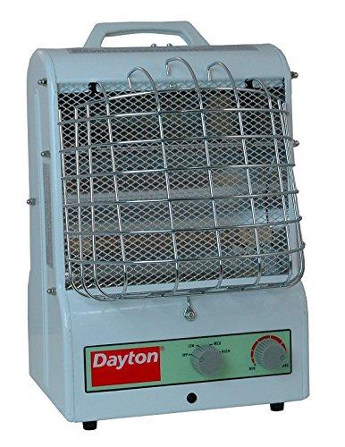 Dayton 1500/900/600W Electric Space Heater, Fan Forced/Ra...
