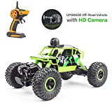 Beyondsky Rc Car Truck 2.4G 4WD Off-Road Vehicle HD Camera FPV Real-Time Video WiFi 25KM/H Driving Monster Crawler for Kids & Adults