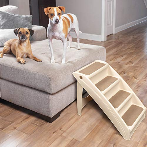 PetSafe Solvit PupSTEP Plus Pet Stairs, Foldable Steps for Dogs and Cats, Best for Small to Medium Pets from PetSafe