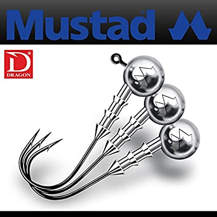 3pcs size Mustad Classic Jig Heads #1//0-3-20g per pack!