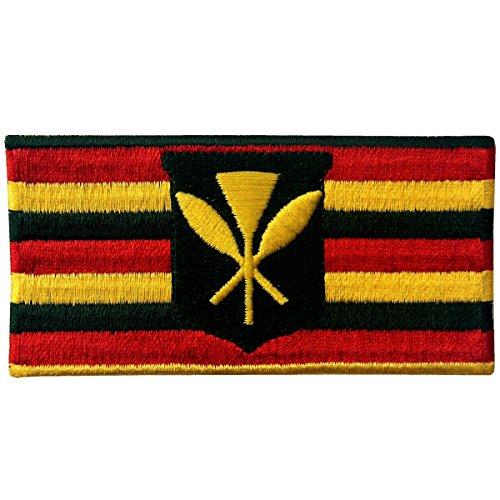 Hawaii Kanaka Maoli State Flag Embroidered Emblem Kamehameha Hawaiian Iron On Sew On Patch