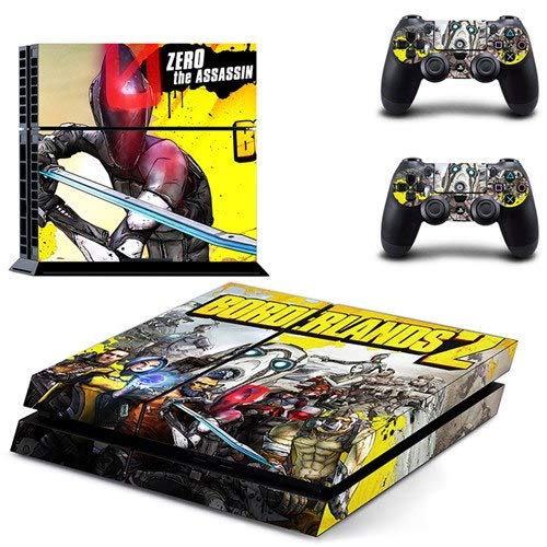 Playstation 4 Skin Set - Borderlands HD Printing Vinyl Skin Cover Protective for PS4 Gaming Console and 2 PS4 Controller by Mr Wonderful Skin
