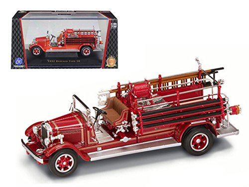 Maisto 1932 Buffalo Type 50 Fire Engine Red 1/43 Car Model by Road Signature