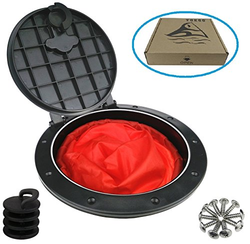 T O K G O @ 8 Inch Hole Diameter Deck Plate Kit, deck Hatch with Cat Bag for Kayak Boat Fishing Rigging (Contain Red Pocket) (Plate Hatch)