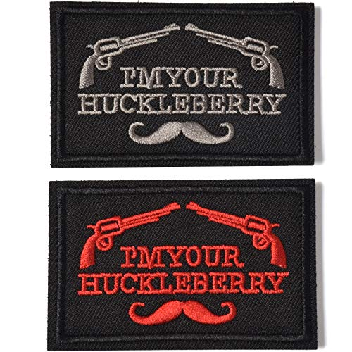 AXEN I'm Your Huckleberry Funny Tactical Military Morale Patch Hook & Loop Tactical Patch