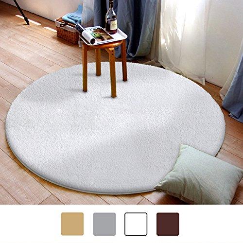MAYSHINE Round Bath Mat Non-slip Soft Microfiber Luxurious Area Rug Machine-washable for Living Room Bedroom Kitchen-(39 inch (Round Bath Rugs)