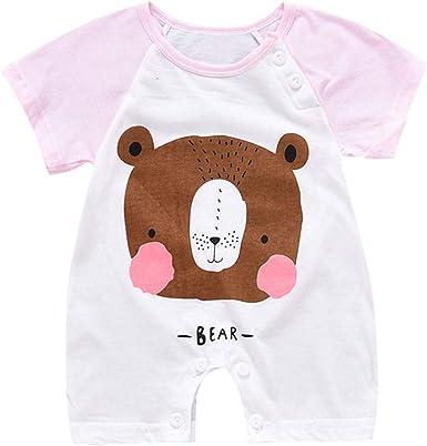 FELZ Ropa para Bebe Niño Niña Mameluco de Manga Corta con Estampado de Dibujos Animados recién Nacido Mamelucos, bebés de 0 a 12 Meses: Amazon.es: Ropa y accesorios