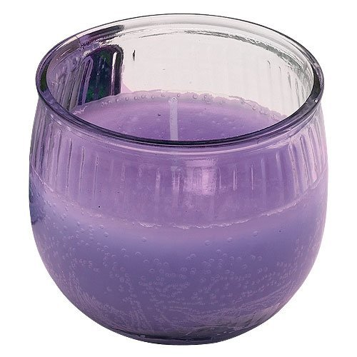 Nicole Home Collection Old Williamsburgh Candle in Globe Style Glass Container, Lilac, 3 oz.