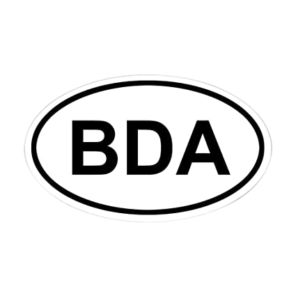 Cafepress bermuda bda oval bumper sticker euro oval car decal