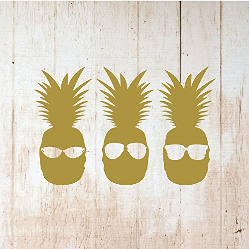 Pineapple Wall Decor - Cool PineApple With Sunglasses - Hawaiian Tropical Design - Teen Bedroom Decoration ()