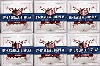 product image for Package of SIX(6) Baseball Acrylic BallQube Grandstand Display Sports Memorabilia Holders with UV Protection ! Crystal Clear – 2 Piece Design that Holds Regular Sized Baseballs!