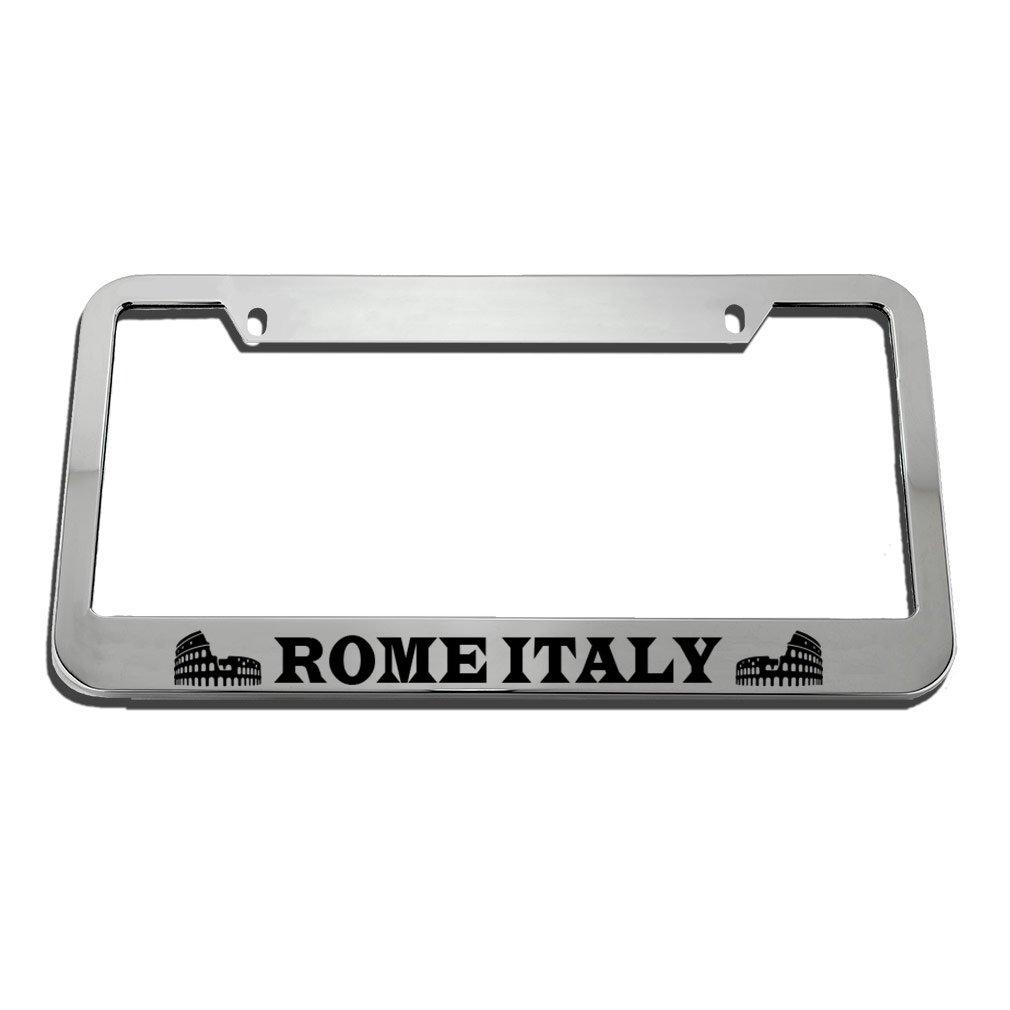 Speedy Pros Rome Italy License Plate Frame Tag Holder