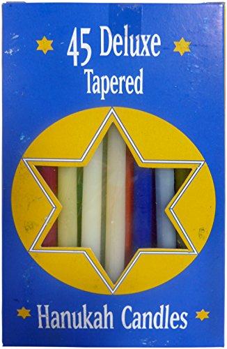 Biedermann & Sons Assorted Rainbow Hanukkah Candles, 6 Boxes of 45