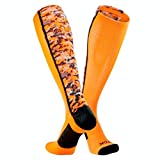TCK Sports Digital Camo Over The Calf Socks (Neon Orange/Black, Small)