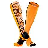 TCK Sports Digital Camo Over The Calf Socks (Neon Orange/Black, Small)