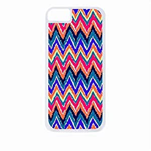 Bold Ikat Chevrons- For HTC One M9 Phone Case Cover Universal-Hard White Plastic Outer Shell with Inner Soft Black Hard Lining