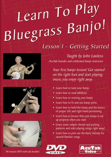 Learn to Play Bluegrass Banjo, Lesson 1 Get Started (Bluegrass Banjo 1 Dvd)