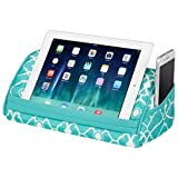 LapGear Designer Tablet Pillow - Aqua Trellis (Fits up to 10.5' Tablet)