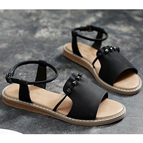 単位マオリ慈悲深いXIAOLIN シンプルなフラットボトムサンダル女性の夏のファッション学生女性のサンダル女性の夏のビーチシューズユニークなデザインスタイルの弾性サンダル(オプションのサイズ) (色 : イエロー いえろ゜, サイズ さいず : EU39/UK6.5/CN40)