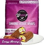 Raw Organic Energizing Morning Veggie Wraps | Wheat-Free, Gluten Free, Paleo Wraps, Non-GMO, Vegan Friendly Made in the USA (8 Pack)