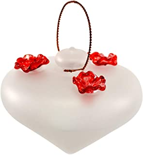 product image for American Made Recycled Glass Topside Hummingbird Feeder, 8-oz (Frosted White)
