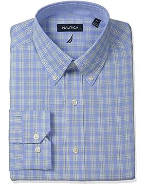 Men's Check Button-Down Collar Dress Shirt
