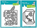 #6: Lawn Fawn Lawn Cut Dies - Woodland Critter Huggers and Stitched Gift Card Pocket - 2 Item Set