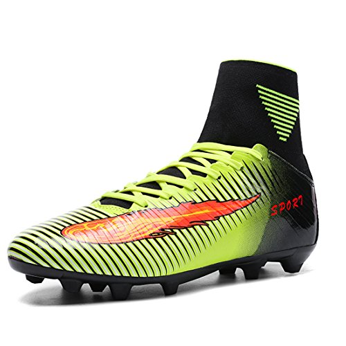Football Shoes Junior Adults Football Green FG Boots Soccer DoGeek Odqnwa0O