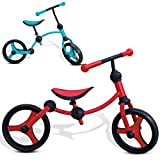 smarTrike Balance Bike is a 2-in-1 Adjustable Toddler Running Bike – Perfect First Bicycle with Rubber Wheels and No Pedals. Great for 2-5 Year Old Kids - Blue