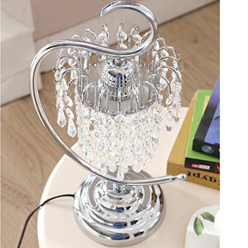 Edge To Table Lamp Crystal Table Lamp Beautiful Bedroom Bedside Wedding Table Lamp Pastoral European Luxury Decorative Table Lamp by Edge To (Image #2)