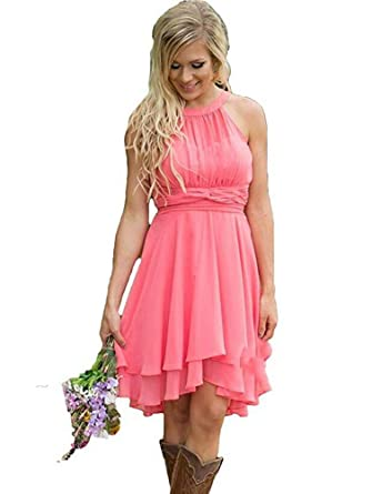 Amazon.com: Womens Plus Size Short Country Bridesmaid ...