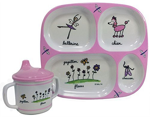 Baby Cie Ballerina, Melamine Plate & Sippy Cup - 2 Piece Set
