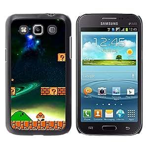 KLONGSHOP // Cubierta de piel con cierre a presión Shell trasero duro de goma Protección Caso - Mushroom juego - Samsung Galaxy Win I8550 //