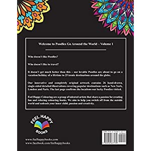 Poodles Go Around the World Colouring Book: Poodle Coloring Book - Perfect Poodle Gifts Idea for Adults and Older Kids (Volume 1) 31