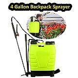 ncient 4 Gallon Backpack Sprayer 16L Portable Knapsack Hand Piston Pressure Pump Sprayers for Lawn Garden Farm Yard (4 Gallon)