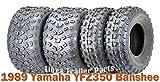 Full Set Sport ATV Tires 21x7-10 & 22x11-10 for 1989 Yamaha YFZ350 Banshee