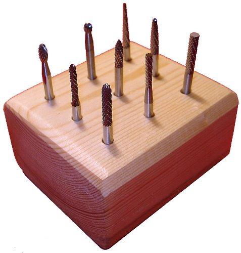 Kodiak Cutting Tools CP-RNPP-RAU2 USA Made Carbide Burs Set on 1/8 Shanks, Double-Cut, Assorted Shape (Pack of 9) by Kodiak Cutting Tools