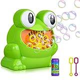 xiaohan New children's cartoon electric bubble machine bubble gun toy frog bubble machine gift outdoor blowing bubble water