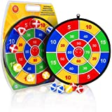 Lbsel Kids Game Dart Board with 9 Balls   Kids Board Games Toy Christmas Party Favors   Christmas Kids Gift Outdoor Indoor Game choice-13.8 Inches (35 cm)