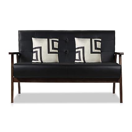 amazon com aodailihb modern fabric upholstered wooden 2 seat sofa rh amazon com sofa minimalistik sofá minimalista