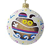HolidayGiftShops Steam Boat Medallion - Hand Painted Christmas Ornament.