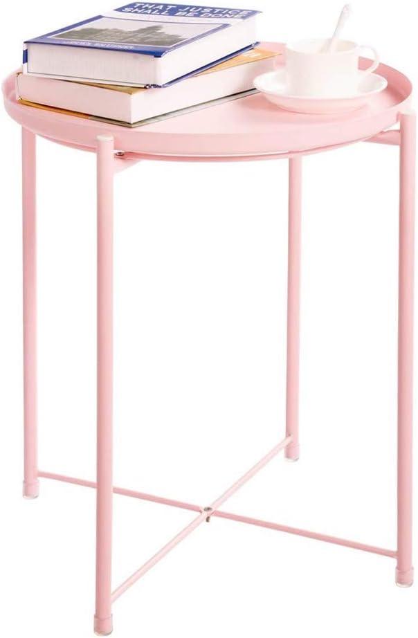 Aanbiedingen Nordic Metal End Table, bijzettafel ronde salontafel opvouwbare bijzettafel bloem stand voor woonkamer, 44Ø × 52cm / 17,32 Ø × 20,47 inch Vistoso XZPf2bU