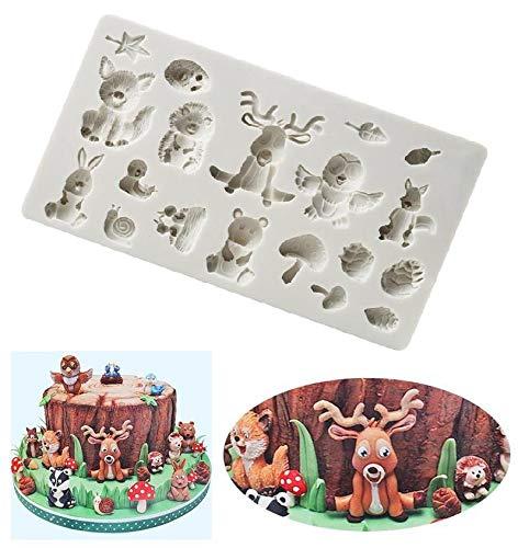 Joinor Sugarcraft Animal Silicone Mold Fondant Mold Cake Decorating Tools Chocolate Mold Clay Mold