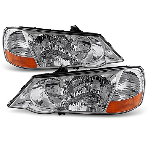 Acura Headlamp - ACANII - For Acura TL Factory HID Xenon Model Headlights Headlamps Head Lights Lamps Replacement Driver + Passenger Side