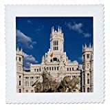 3dRose Cities Of The World - Cybele Palace In Madrid, Spain - 22x22 inch quilt square (qs_268658_9)