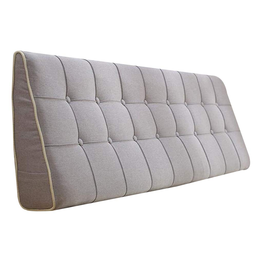 HAIPENG クッション ベッドの背もたれ クッション ために ヘッドボードなし 三角 ウェッジ ベッド バックレスト ベッドサイド 枕 布張り 腰椎 ウォッシャブル、 5色 (色 : Gray, サイズ さいず : 120x15x50cm) B07GVGN98B Gray 120x15x50cm