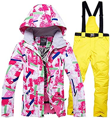 Traje de esquí JSGJHXFTraje de esquí Mujer Chaqueta de esquí para ...