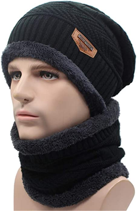 Qianmome Winter Knitted Scarf Skullies Beanies Gorras Bonnet Mask Brand Hats for Men Women